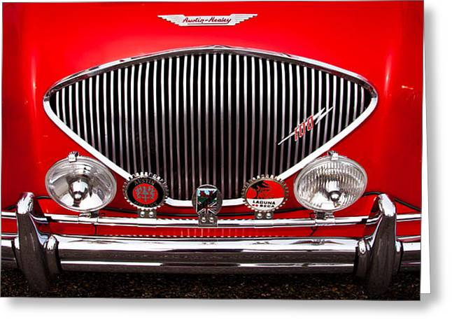 1955 Austin Healey 100-4 Greeting Card by David Patterson