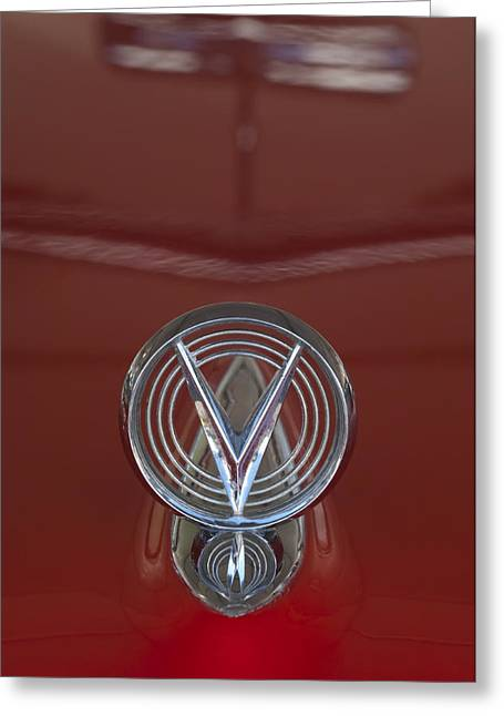 Car Mascot Greeting Cards - 1955 Buick Special Convertible Hood Ornament Greeting Card by Jill Reger