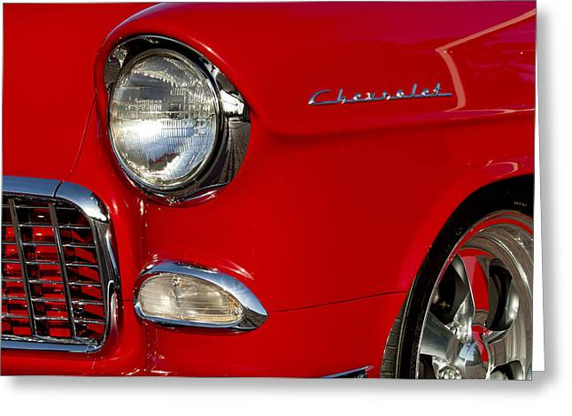 1955 Chevrolet 210 Headlight Greeting Card by Jill Reger