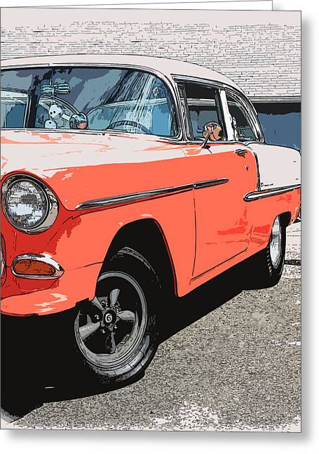 1949 Plymouth Greeting Cards - 1955 Chevy Greeting Card by Steve McKinzie
