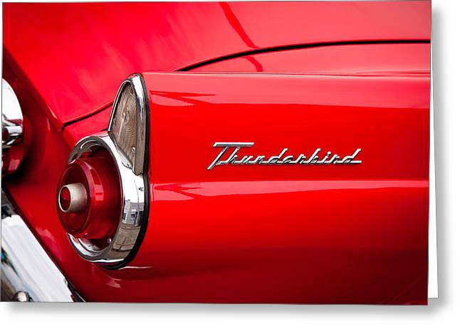 1955 Ford Thunderbird Greeting Card by David Patterson
