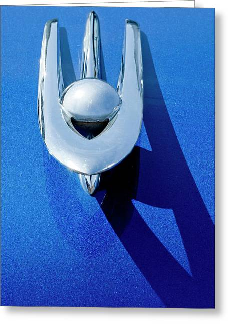 Car Mascot Greeting Cards - 1955 Packard Clipper Hood Ornament 4 Greeting Card by Jill Reger