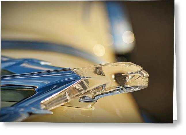 I Love Lucy Greeting Cards - 1955 Pontiac Star Chief Hood Ornament  Greeting Card by Gordon Dean II
