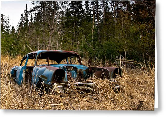 Abandoned Cars Greeting Cards - 1956 Chevy Greeting Card by Cale Best