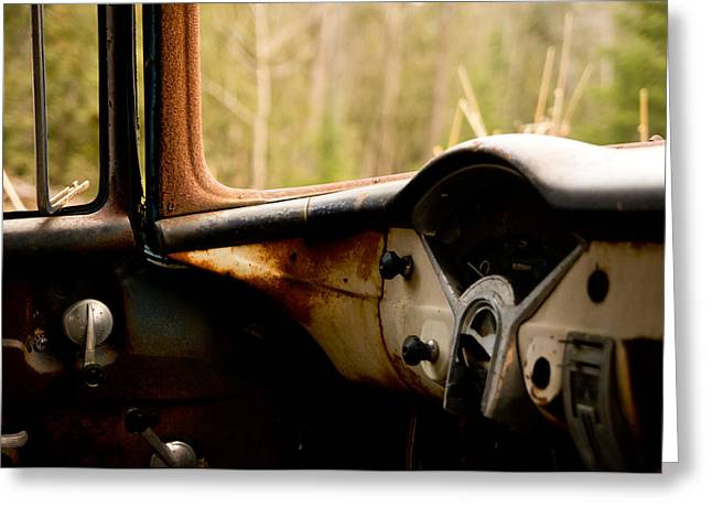 Rusted Cars Greeting Cards - 1956 Chevy Inside Greeting Card by Cale Best