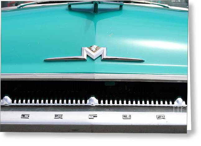Mercury Hot Rod Greeting Cards - 1956 Ford Mercury Monterey . 7D15237 Greeting Card by Wingsdomain Art and Photography