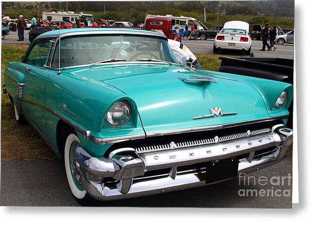 Mercury Hot Rod Greeting Cards - 1956 Ford Mercury Monterey . 7D15238 Greeting Card by Wingsdomain Art and Photography