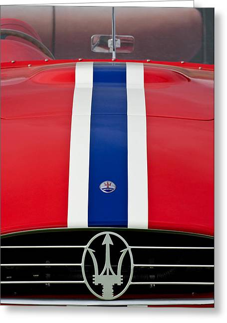 1956 Maserati 350 S Greeting Card by Jill Reger