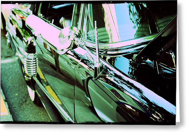 Layered Digital Art Greeting Cards - 1956 Mercury Montclair Greeting Card by Cathie Tyler