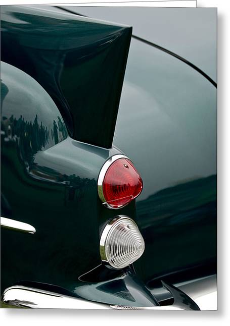 Dual Greeting Cards - 1957 Dual-Ghia Convertible  Taillights Greeting Card by Jill Reger