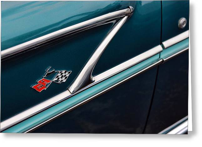 Turquois Greeting Cards - 1958 Chevrolet Bel Air Greeting Card by Gordon Dean II