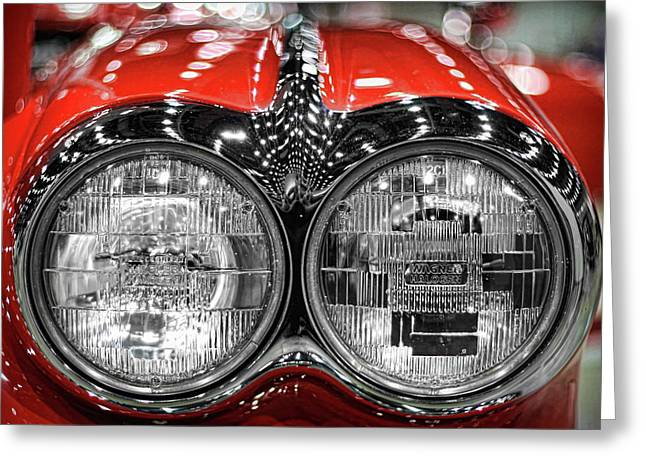 Indianapolis 500 Greeting Cards - 1958 Chevrolet Corvette  Greeting Card by Gordon Dean II