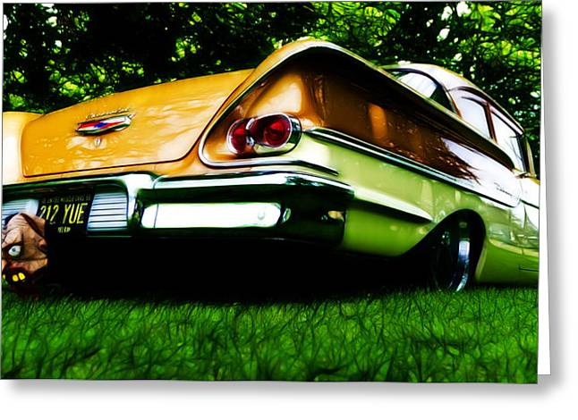 Phil Motography Clark Greeting Cards - 1958 Chevrolet DelRay Greeting Card by Phil