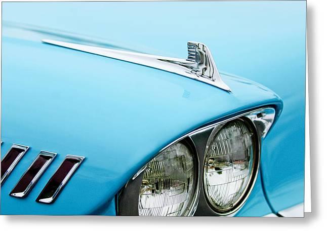 1958 Chevrolet Impala Fender Spear Greeting Card by Jill Reger