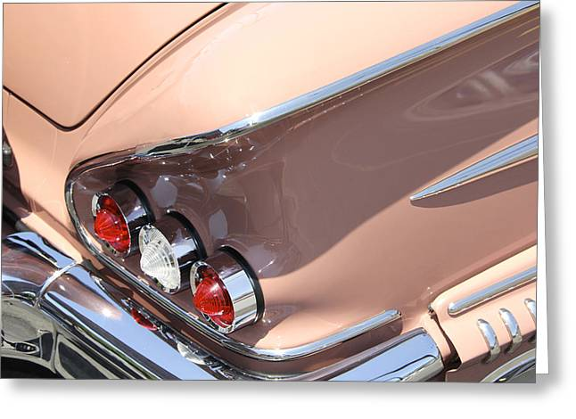 Chrome Greeting Cards - 1958 Chevrolet Greeting Card by Mike McGlothlen