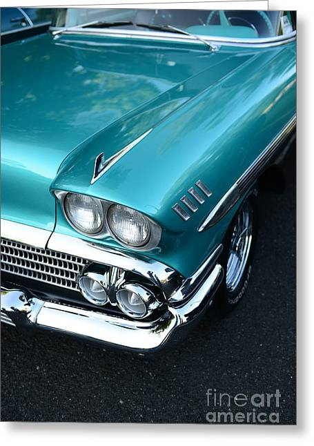 1958 Chevy Belair Front End 01 Greeting Card by Paul Ward