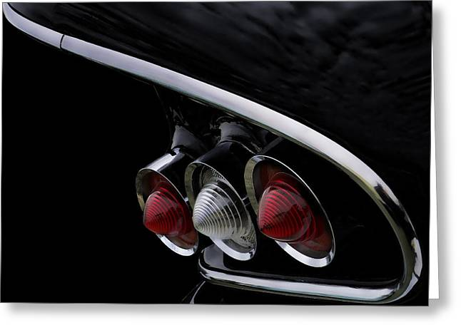 Fin Greeting Cards - 1958 Impala Tailfin Greeting Card by Douglas Pittman