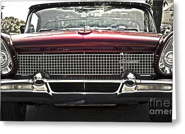 Memorable Greeting Cards - 1958 Lincoln Continental Greeting Card by Gwyn Newcombe