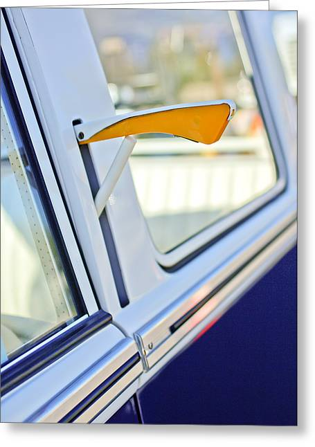 Signaling Greeting Cards - 1958 Volkswagen VW Bus Turn Signal Greeting Card by Jill Reger