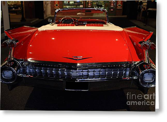 Caddy Greeting Cards - 1959 Cadillac Convertible - 7D17377 Greeting Card by Wingsdomain Art and Photography