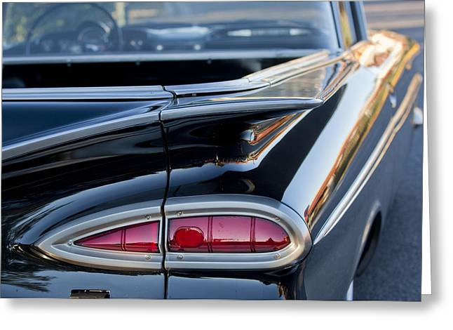 1959 Chevrolet Greeting Cards - 1959 Chevrolet Taillight Greeting Card by Jill Reger