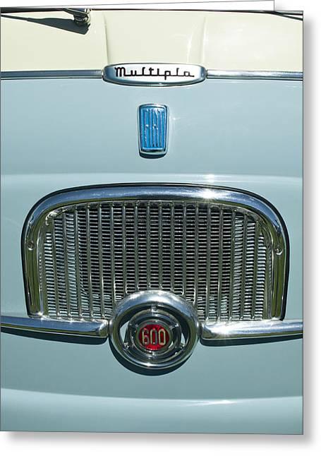 1959 Fiat Multipia Hood Emblem Greeting Card by Jill Reger