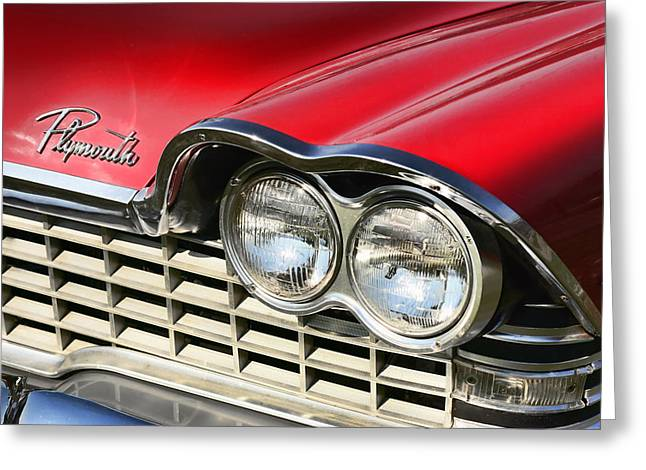 1957 Movies Greeting Cards - 1959 Plymouth Sport Fury  Greeting Card by Gordon Dean II