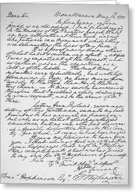 Hopkinson Greeting Cards - George Washington Greeting Card by Granger