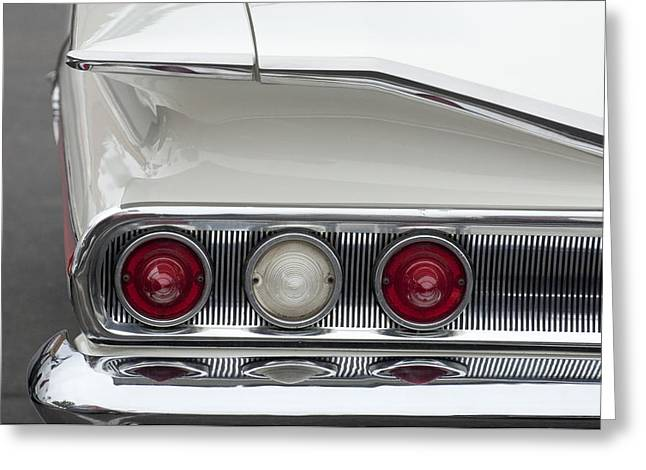 1960 Chevrolet Impala Tail Lights Greeting Card by Jill Reger