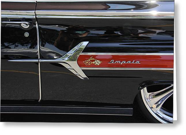 1960 Digital Art Greeting Cards - 1960 Chevy Impala Greeting Card by Mike McGlothlen