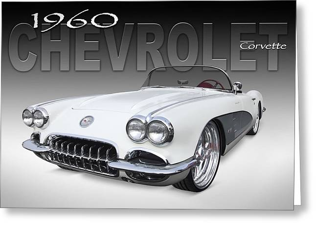 1960 Digital Art Greeting Cards - 1960 Corvette Greeting Card by Mike McGlothlen