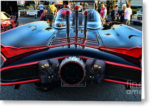 Gotham City Photographs Greeting Cards - 1960s Batmobile - 1 Greeting Card by Paul Ward