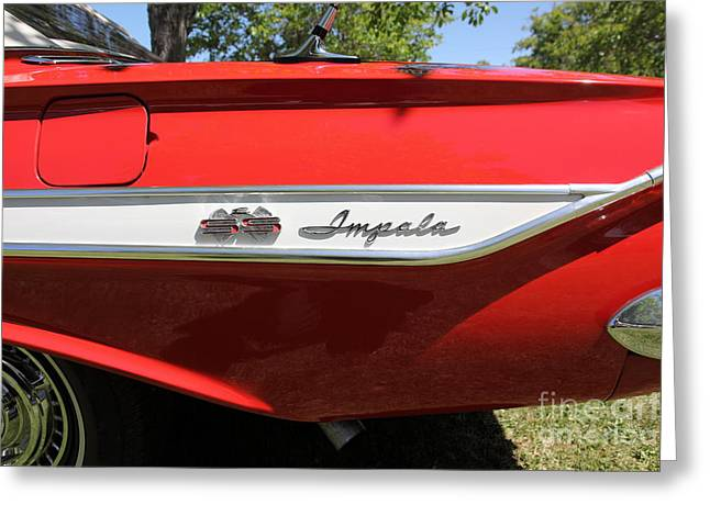 1961 Chevrolet Impala SS Convertible . 5D16266 Greeting Card by Wingsdomain Art and Photography