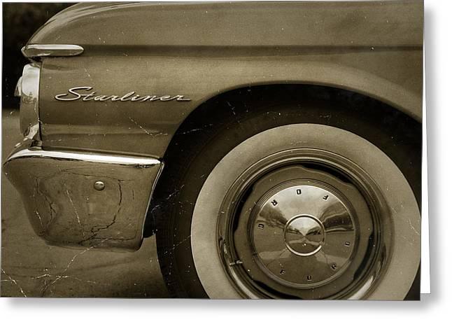Nascar Digital Greeting Cards - 1961 Ford Starliner Greeting Card by Gordon Dean II