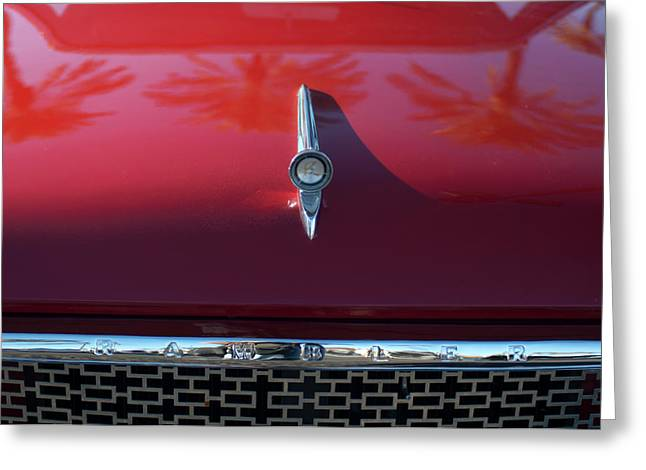 Car Mascot Greeting Cards - 1961 Rambler Hood Ornament 2 Greeting Card by Jill Reger