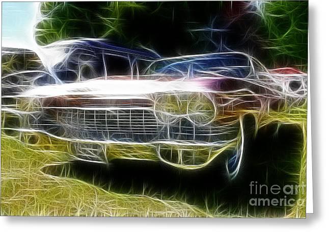 Caddy Greeting Cards - 1962 caddy Cadillac Greeting Card by Paul Ward