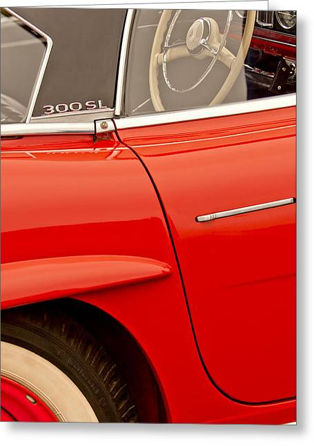 Mercedes Benz 300 Greeting Cards - 1962 Mercedes-Benz 300 SL Roadster Greeting Card by Jill Reger