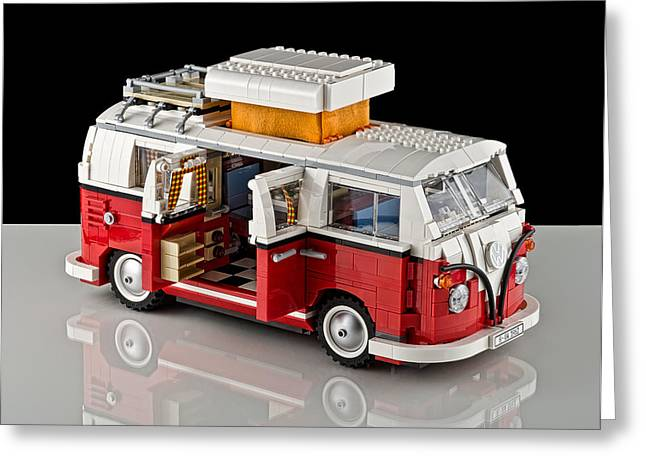 Lego Greeting Cards - 1962 VW Lego Bus Greeting Card by Noah Katz