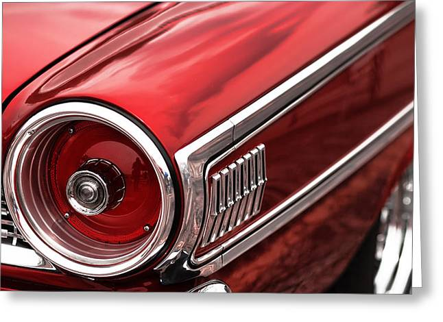 1963 Ford Digital Art Greeting Cards - 1963 Ford Galaxie 500 Greeting Card by Gordon Dean II