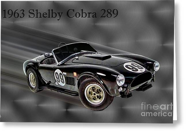 1963 Ford Digital Art Greeting Cards - 1963 Shelby Cobra 289 Greeting Card by Tommy Anderson