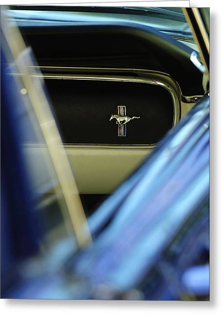 1964 Ford Emblems Greeting Cards - 1964 Ford Mustang Emblem Greeting Card by Jill Reger