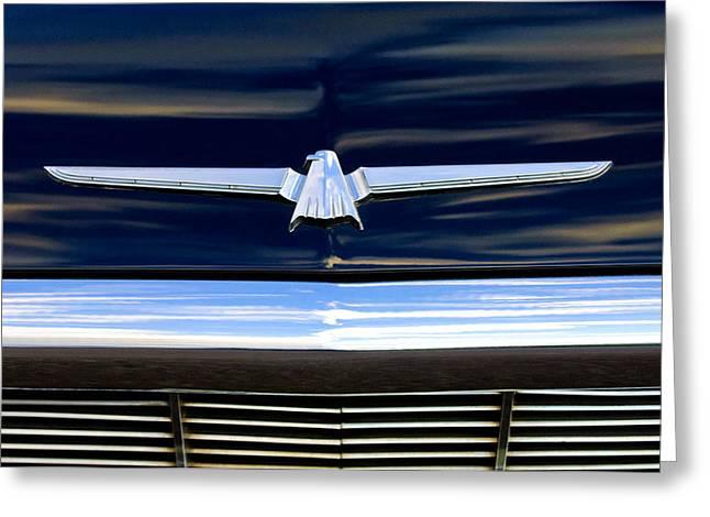 1964 Ford Emblems Greeting Cards - 1964 Ford Thunderbird Emblem Greeting Card by Jill Reger