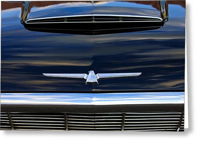 1964 Ford Emblems Greeting Cards - 1964 Ford Thunderbird Hood Emblem Greeting Card by Jill Reger