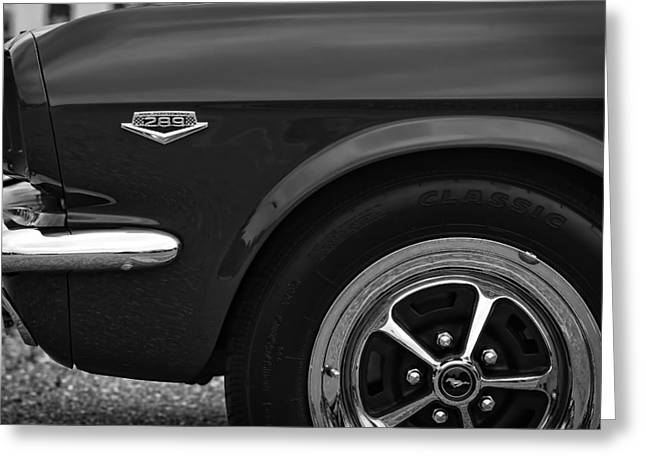 289 Motor Greeting Cards - 1964.5 Ford Mustang - 289 High Performance Greeting Card by Gordon Dean II