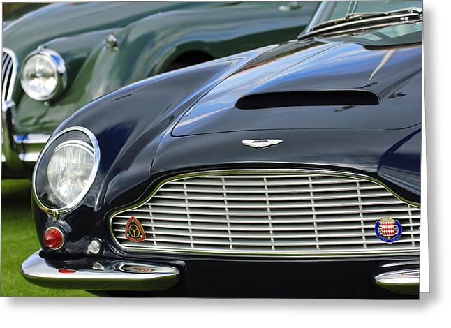1965 Aston Martin Db6 Short Chassis Volante Greeting Card by Jill Reger