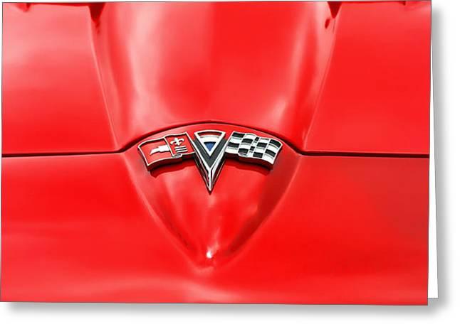 1965 Chevy Corvette Hood Scoop Greeting Card by Gordon Dean II