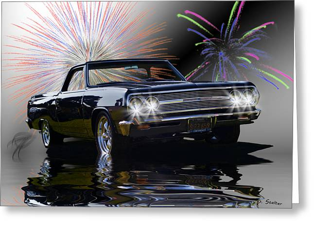 Flood Digital Art Greeting Cards - 1965 El Camino Greeting Card by Patricia Stalter