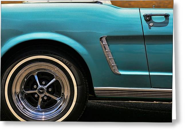 Turquois Greeting Cards - 1965 Ford Mustang Convertible Greeting Card by Gordon Dean II
