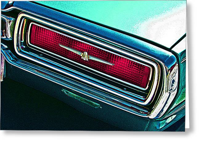 Sheats Greeting Cards - 1965 Ford Thunderbird Tail Light Study Greeting Card by Samuel Sheats