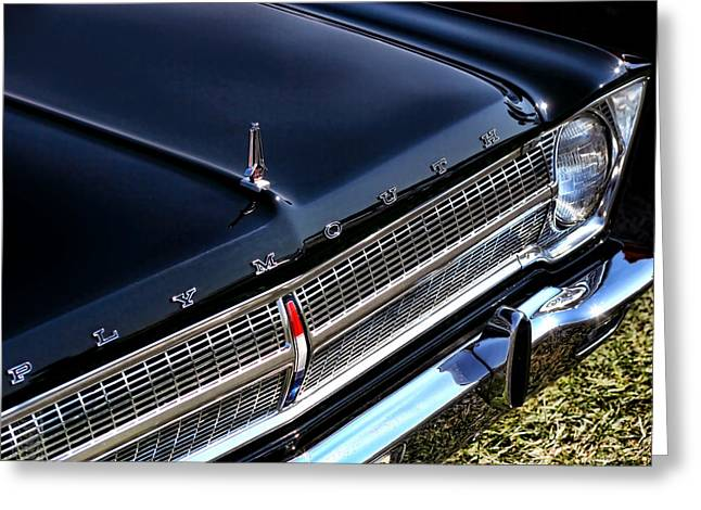 383 Greeting Cards - 1965 Plymouth Satellite 440 Greeting Card by Gordon Dean II